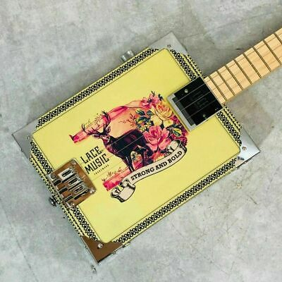 LACE MUSIC PRODUCTS Deer Crossing Electric Cigar Box 3 string Used w/Hard Case