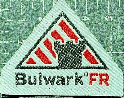 Bulwark FR FLAME FIRE RESISTANT Protective Apparel PATCH TAG (FREE! SHIPPING!)