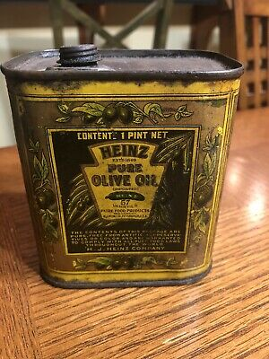 Heinz Olive Oil Can Tin Early