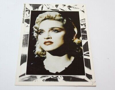 Madonna 1986 Post Card Printed In The Netherlands Post A Stickercard