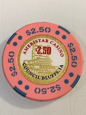 AMERISTAR CASINO $2.50 Casino Chips COUNCIL BLUFFS IOWA 3.99 Shipping
