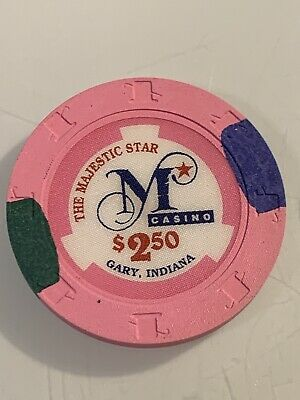 The Majestic Star Casino $2.50 Casino Chip Gary Indiana 3.99 Shipping