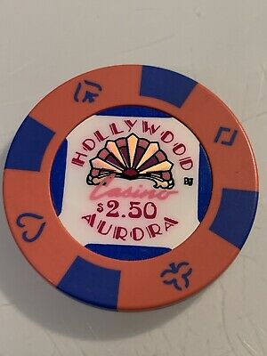 HOLLYWOOD CASINO $2.50 Casino Chips ILLINOIS 3.99 Shipping