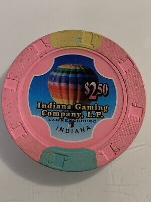 Indiana Gaming Company $2.50 Casino Chip Indiana 3.99 Shipping