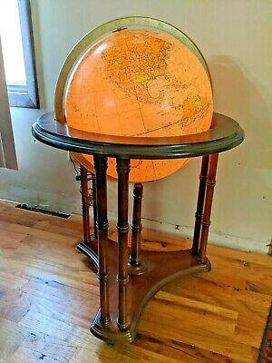 "Replogle Heirloom Series Lighted 16"" Floor Globe with Casters"