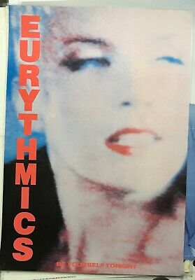 EURYTHMICS LARGE AUSSIE Laminated 80s SHOP DISPLAY POSTER Be Yourself ANN LENNOX