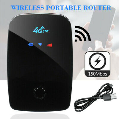 Mini Portable Mobiler Wireless Router 4G LTE WIFI WLAN 150M Hotspot  Schwarz  DE