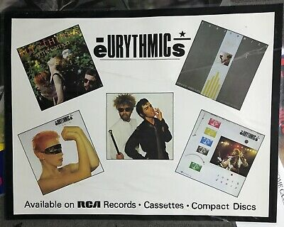EURYTHMICS LARGE Laminated SHOP DISPLAY POSTER Garden TOUCH Dreams ANNIE LENNOX