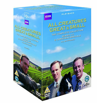 All Creatures Great And Small  Series 1-7  Christmas Specials Complete DVD