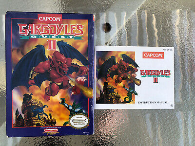 Gargoyles Quest II NES BOX AND INSTRUCTION MANUAL ONLY Original Nintendo Game