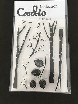 Card-io Tall Trees Clear Stamps New