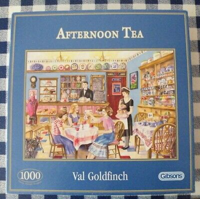 1000 pce Gibson jigsaw 'Afternoon Tea' by Val Goldfinch