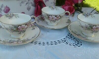 Vintage China Cups and Saucers Duos Melba Bone China Wedding Tea Party