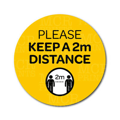 Please Keep 2 meter Apart Safe Distance Social Distancing Stickers Signs | PVC