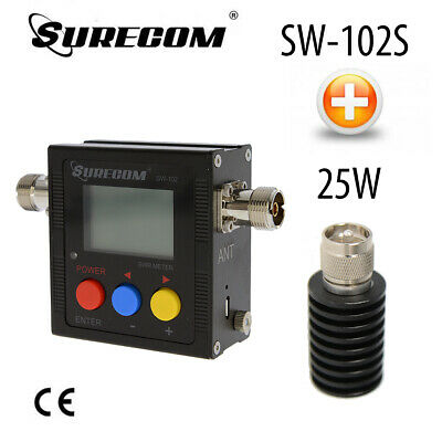 SURECOM SW-102S V.S.W.R. METER with 25W DUMMY LOAD