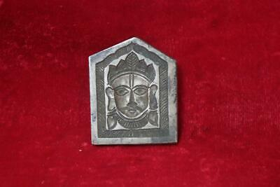 Iron Mold handcarved Indian God Bheruji Face Old Antique Rare Collectible BI-88