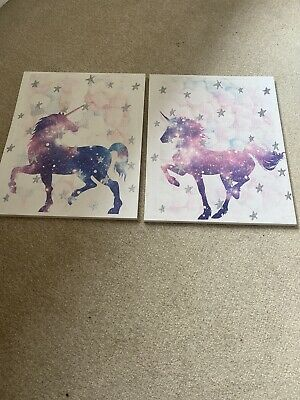 Unicorn Stunning Girls Room Large Canvas X2 Amazing