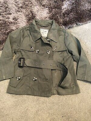 Next Girls Khaki Belted Mac Coat 2-3