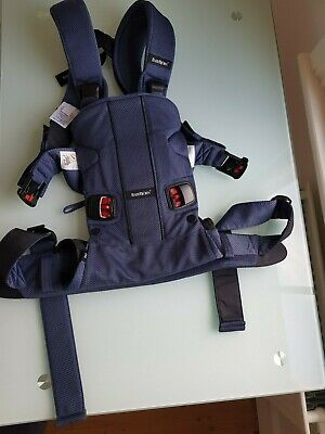 BabyBjorn Baby Carrier One-Air Navy Blue used Boxed 0-3 Years 8-33lb