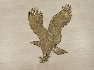 Large Brass Flying Eagle Wall Sculpture