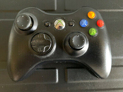 official BLACK WIRELESS CONTROLLER / control pad / joystick - microsoft xbox 360