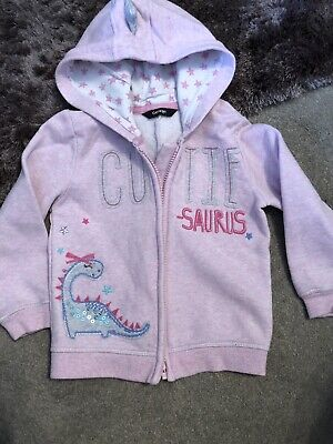 George Girls Dinosaur Hooded Jacket 2-3
