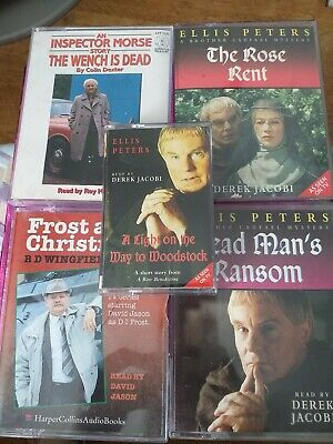 Collection Of 5 Audio Book. Double Cassettes. Assorted Authors. Ellis Peter's.