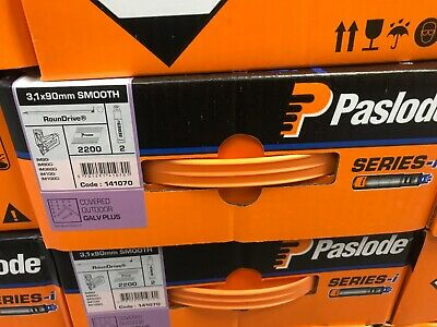 1 Box Original Paslode I Series 3.1/90 Galv Plus Without Cells Free Delivery