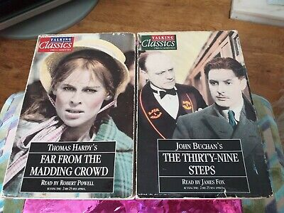 Collection Of  2 Audio Book. 4 cassettes. Thomas Hardy and John Buchans.