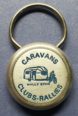 Vtg Airstream Caravans Club-Rallies Wally Byam Cerritos California/ Key Ring Fob