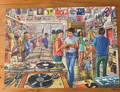 Gibson's 1000 jigsaw puzzle - Retro Records (complete) V good condition