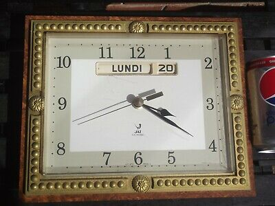 Jaz Electronic Vintage Wall Clock Day (French) Date LIC ATO