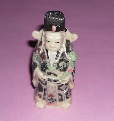 ideal gift small plastic / celluloid ? monk holy man buddha statue figure lot a