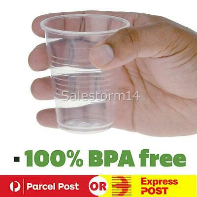 1000X Disposable Plastic Cups Clear Reusable Drinking Water Cup Party 200ml