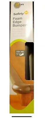 Safety 1St HS165 Foam Edge Bumper, Brown, 4-Pack (Lot Of 2 Boxes)
