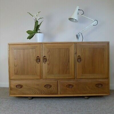 Vintage Ercol Windsor Sideboard in Blonde 468 - 1960's Restored Exc. condition
