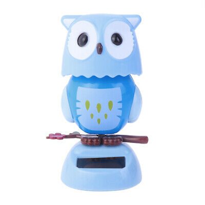 1Pc Owl Shaking Ornament Solar Animal Shaped Car Interior Ornament for Auto Home