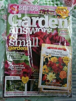 Garden Answers Magazine New Issue June 2020 Edition, with 8 packs of seeds
