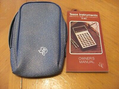 Vintage Texas Instruments TI-30 Instruction Booklet and Case (No Calculator)