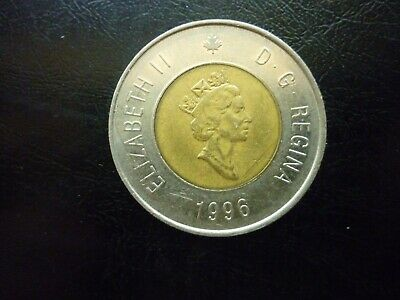 "1996 Dated Canada Canadian 2 Dollar Collectible  ""Toonie"" Coin & FREE SHIPPING!"