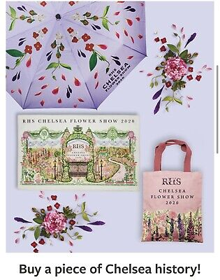 RHS CHELSEA FLOWER SHOW 2020 SOLD OUT Umbrella, Tea Towel and Bag Set