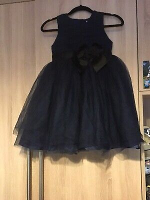 Girls Aged 9-10 Years Navy Blue Puff Party Dress