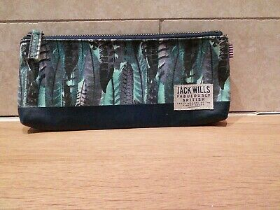 Jack Wills Pencil Case makeup brush case Feather Print