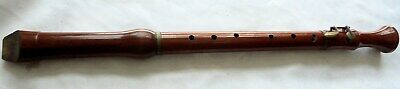 "Large Vintage Wooden Three Piece Flute or Clarinet.  24 3/8"" inches in length."