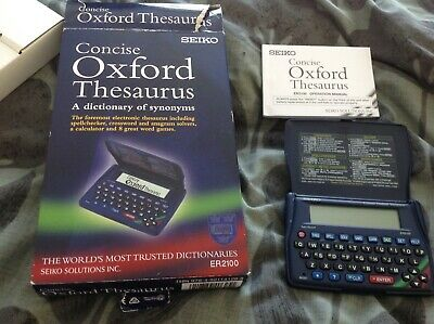 Seiko Concise Oxford Thesaurus Er2100 - New In Box With Instructions