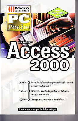 Manuel Access 2000 – Collection PC POCHE– éd. 1999
