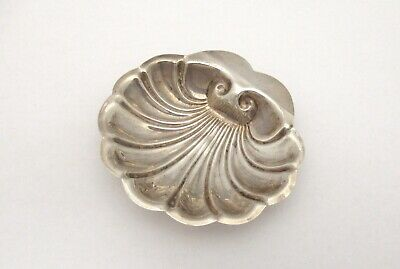 Antique 925 Sterling Silver Shell Design Nut Candy Jewelry Dish Elegant
