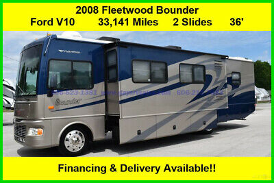 2008 Fleetwood RV Bounder Gas Motor Home Used Coach Motorhome Ford MH Class A