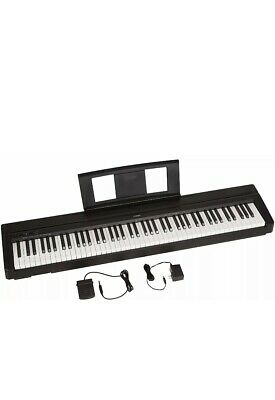 Yamaha P71B 88-Key Digital Piano with Sustain Pedal and Power Supply - Black