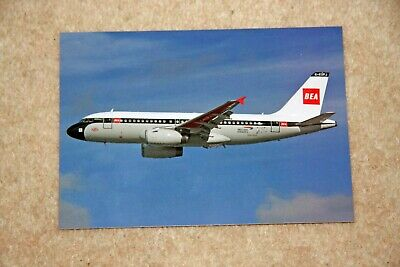 British Airways Centenary BEA retro Airbus A319 jet airliner postcard